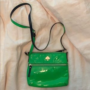 Green/Navy Kate Spade Patent Leather Purse